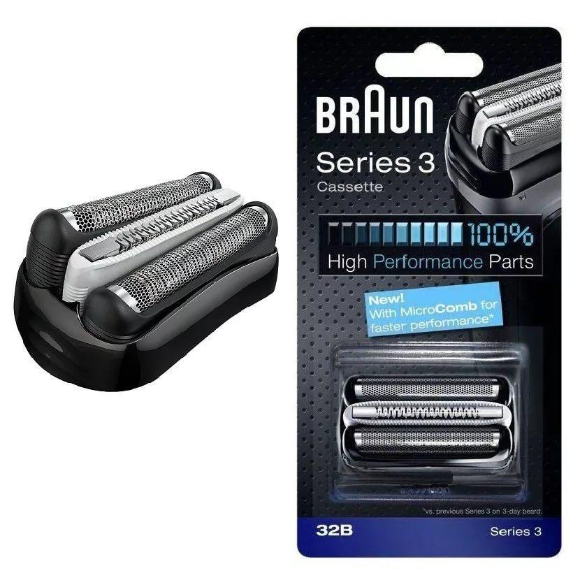 Braun 32B Series 3 серии, Black бритвенная кассета для 300/310/320/330/340