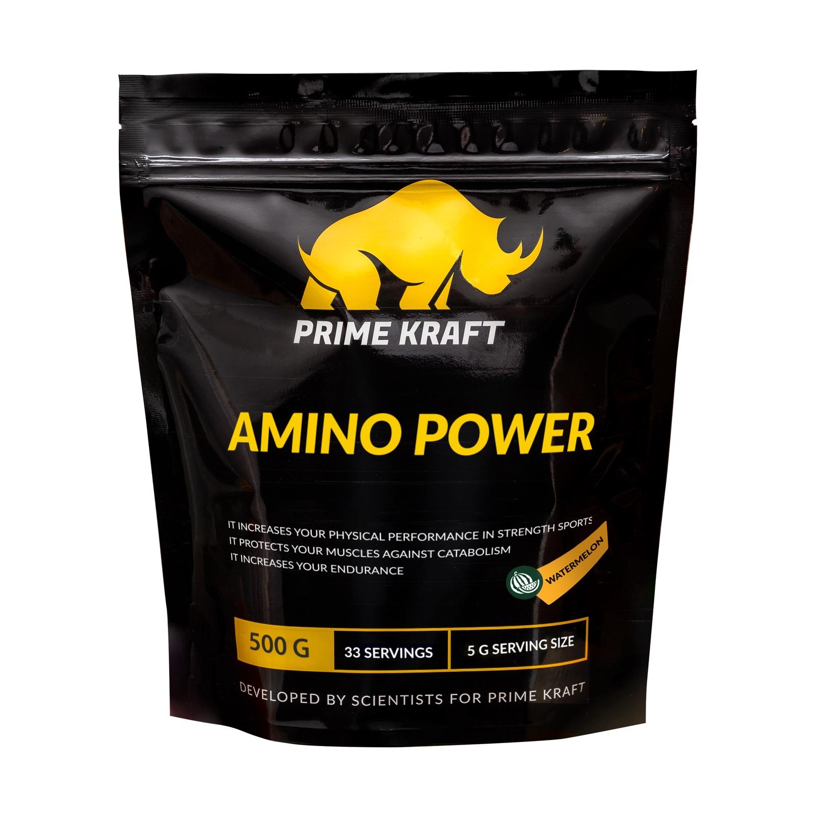 купить Напиток сухой Prime Kraft Amino Power, коктейль фруктово-ягодный, арбуз, 500 г недорого