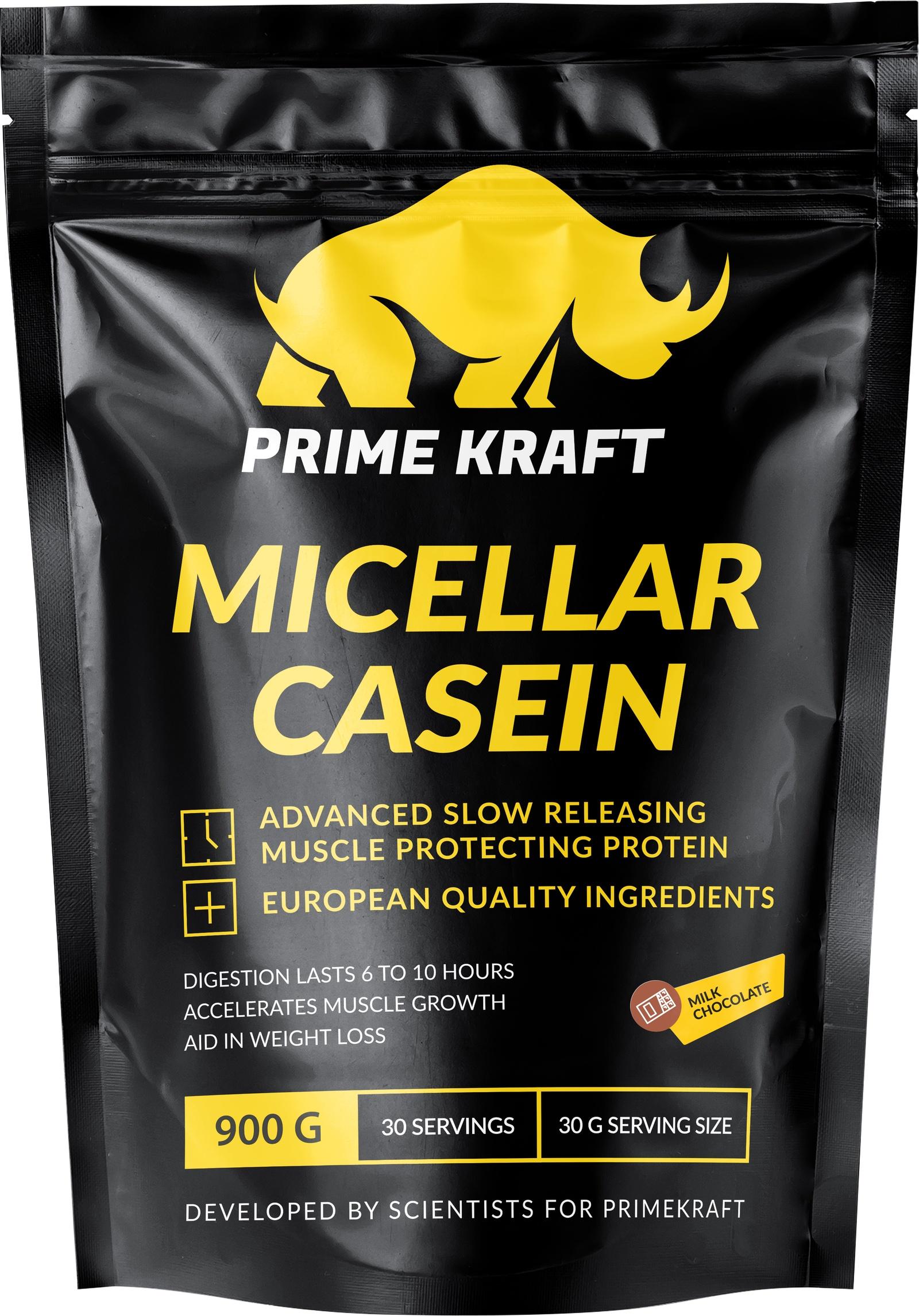 Напиток сухой Prime Kraft Micellar Casein, коктейль белково-витаминный, молочный шоколад 900гр