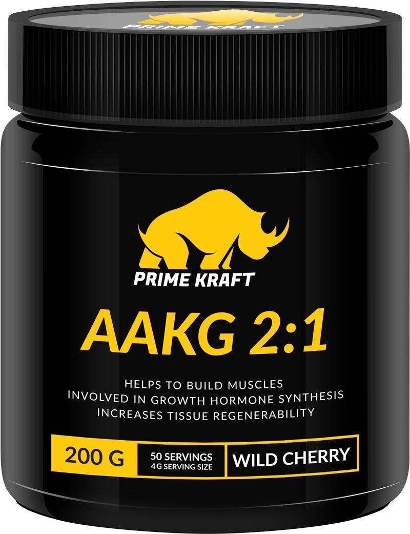купить Prime Kraft AAKG 2:1, коктейль фруктово-ягодный, дикая вишня, 200 г недорого