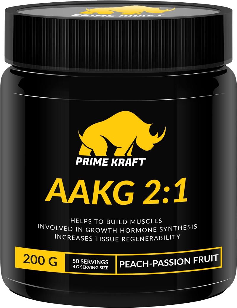 купить Напиток сухой Prime Kraft AAKG 2:1, коктейль фруктово-ягодный, персик, маракуйя, 200 г недорого