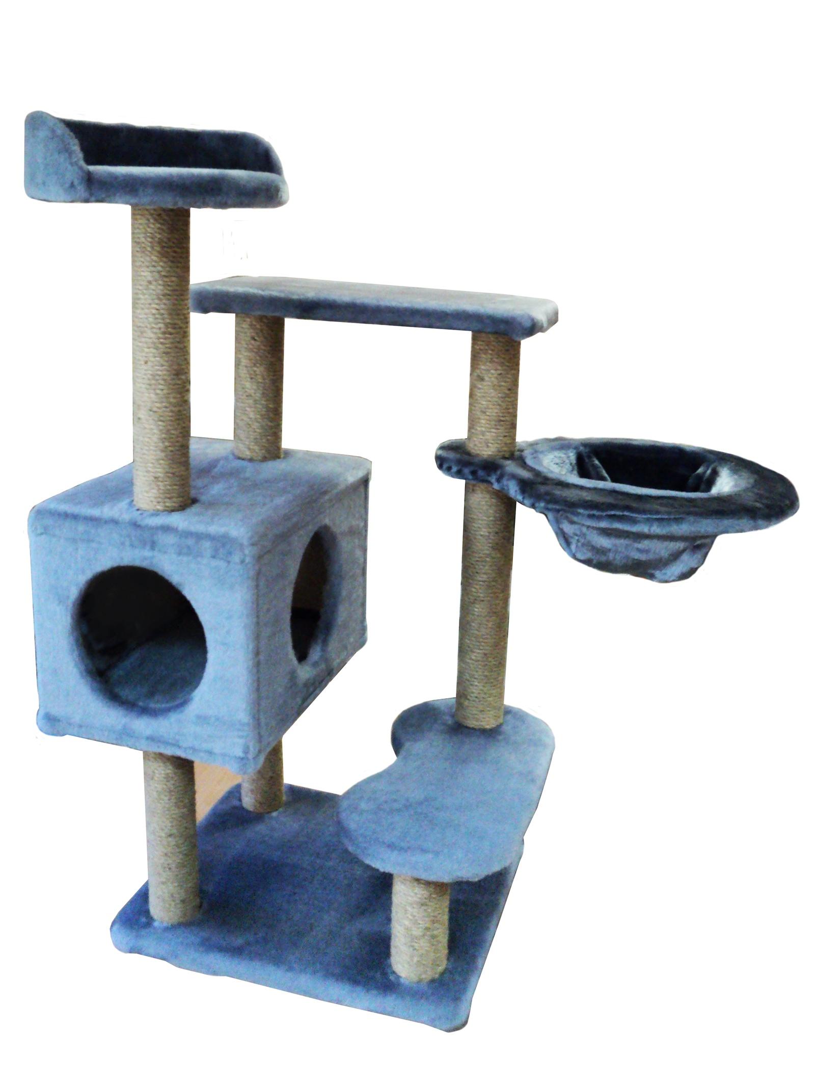 Домик - когтеточка Барсик, серый, джут 60х60х110 домик когтеточка барсик серый джут 60х60х110
