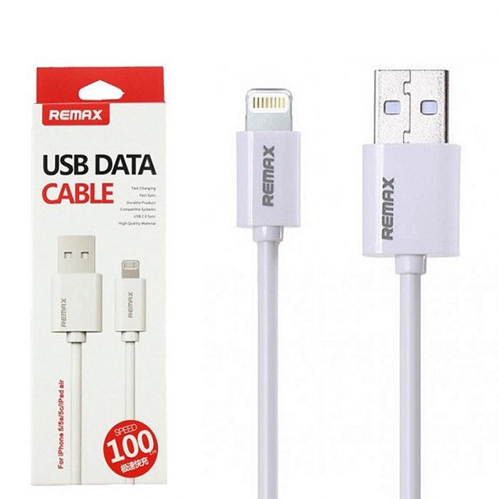 USB кабель Remax RC-007i Fast Charging Lightning, белый аксессуар remax knight rc 043i usb lightning для iphone 5 6 7 black