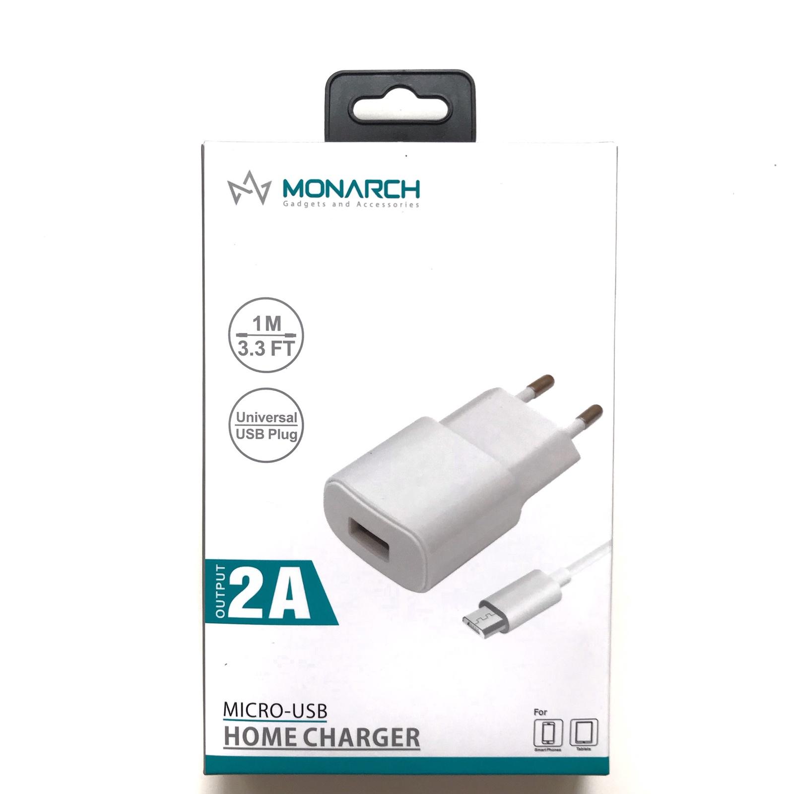 Зарядное устройство 2A Monarch c кабелем для Samsung