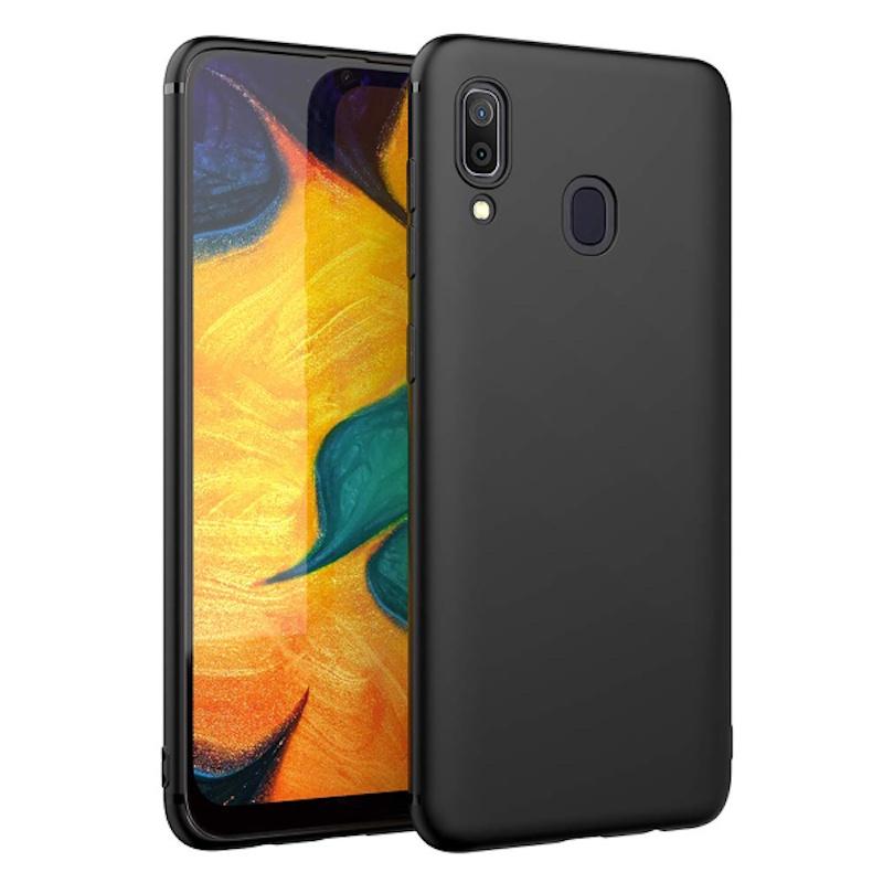 Матовый силиконовый чехол для Samsung Galaxy A40, черный