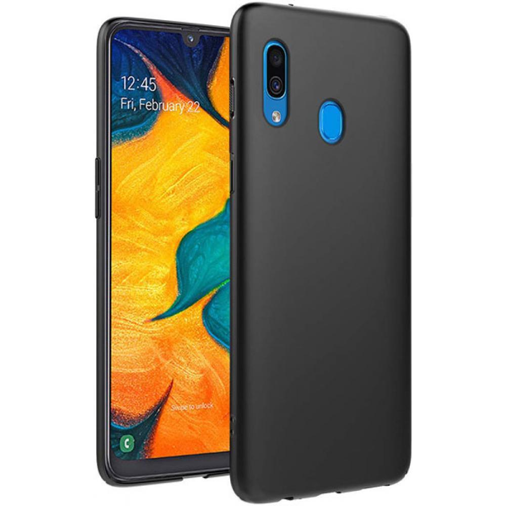 Матовый силиконовый чехол для Samsung Galaxy A20/A30, черный