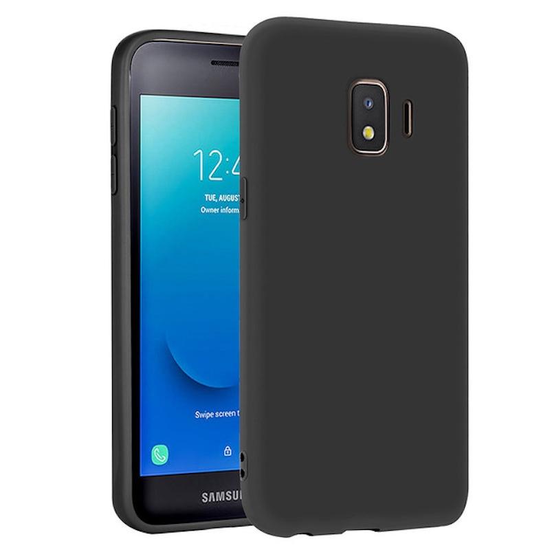 Силиконовый защитный бампер для Samsung Galaxy J2 Core Черный moshiqisuoni c3 сотовый телефон дела небольшой зеленый сердце s55t оболочки sonyc3 силиконовый защитный чехол