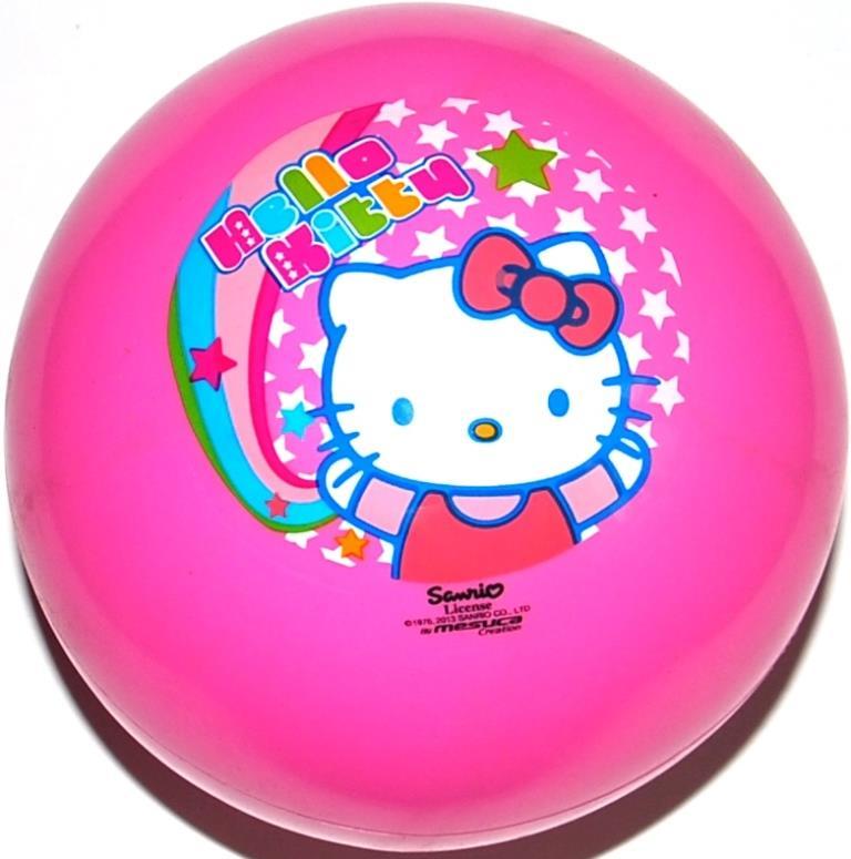 Мяч игровой детский Hello Kitty 2730, ПВХ. Надувной 23см. Розовый мячики mondo мяч hello kitty