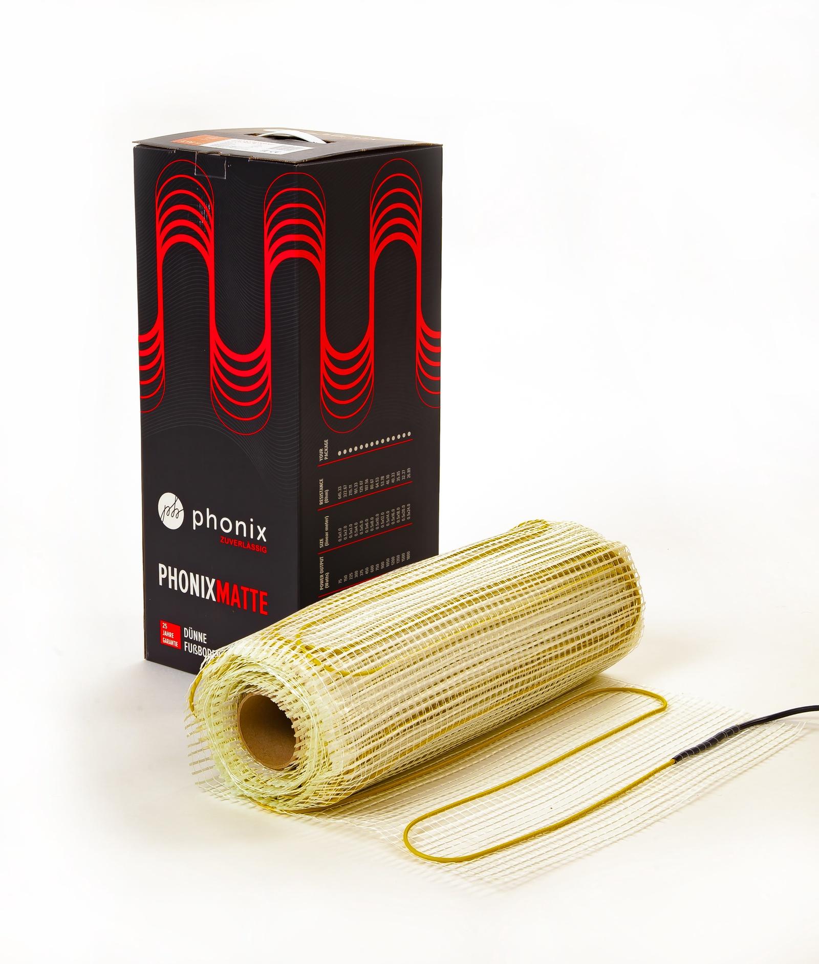Электрический теплый пол PHONIX 0,5 x 2,0 м, 150 Вт (1,0м2)