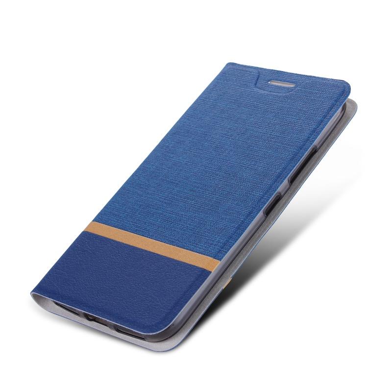Чехол-книжка MyPads для LG X Venture M710DS / V9 на жёсткой металлической основе синий