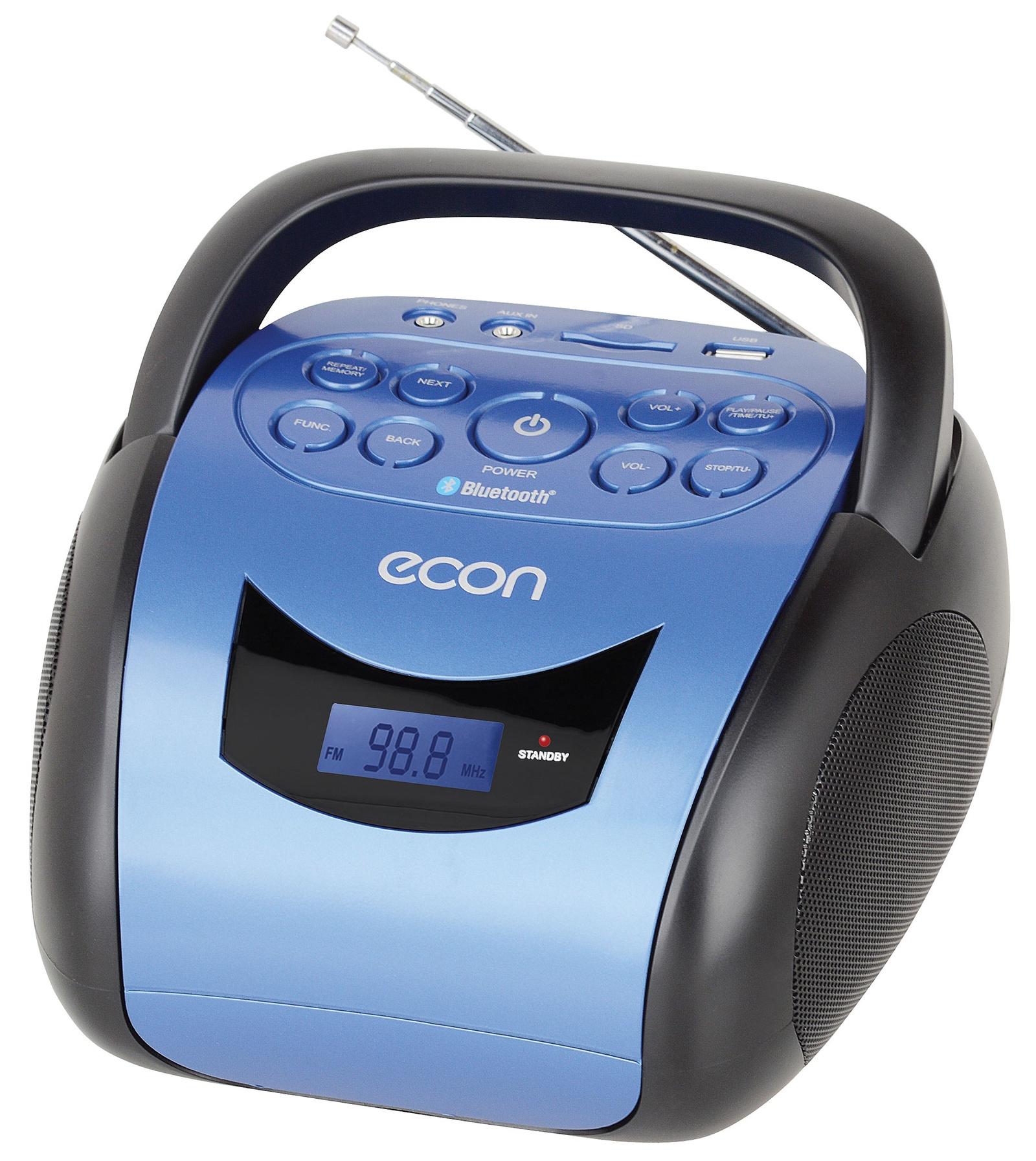 Магнитола ECON с Bluetooth, с USB и слотом под SD-карту, с FM радио ECON