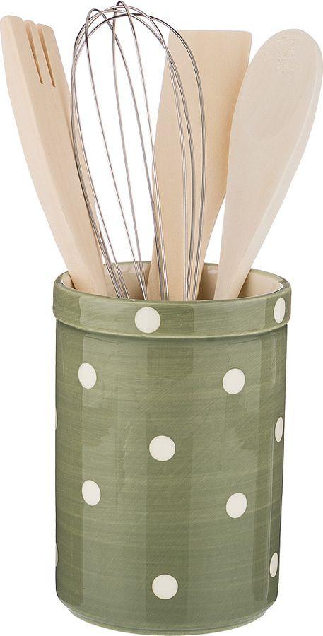 купить Подставка для кухоных принадлежностей Lefard Green Utensils, 230-193, 14 х 9 х 9 см по цене 527 рублей