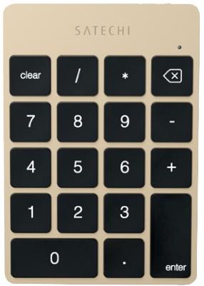 Беспроводная клавиатура Satechi Slim Rechargeable Aluminum Bluetooth Keypad золотая ST-SALKPG 7 8 дюймовый универсальный складной bluetooth клавиатура испанский новый bluetooth bluetooth клавиатура