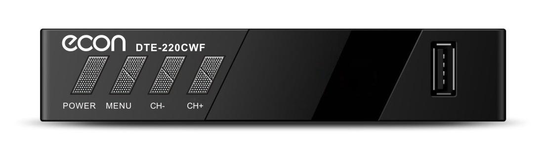 Умная SMART приставка для цифрового телевидения ECON DVB-T2 с функцией медиаплеера, Wi-Fi, функция записи через USB