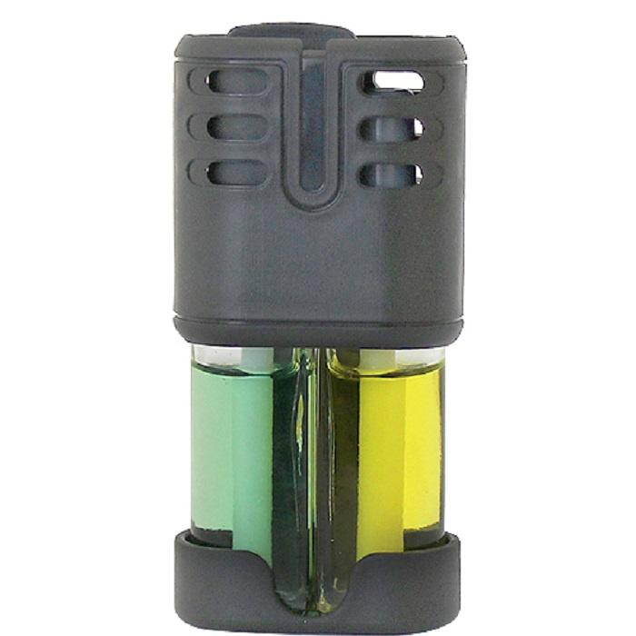 Ароматизатор воздуха в дефлектор Double Fresh новая машина/свежая дыня, AutoStandart 105537 ароматизатор fresh way парус машина капучино и ваниль