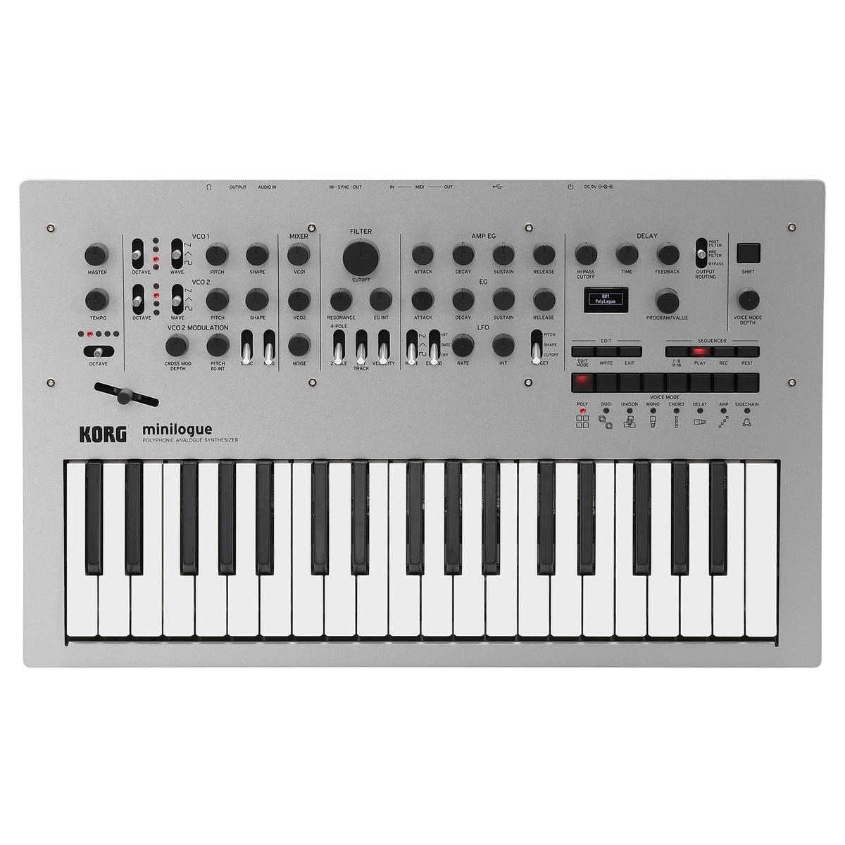 KORG Minilogue аналоговый синтезатор синтезатор korg arp odyssey