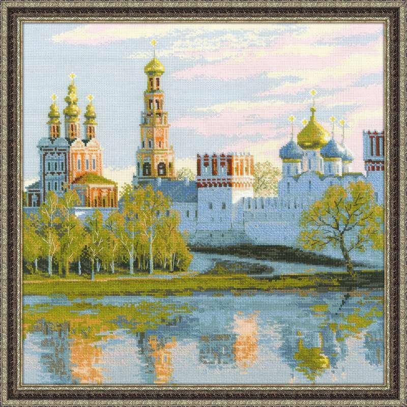 Набор для вышивания крестом Риолис Москва. Новодевичий монастырь (40 х 40 см.) набор для вышивания крестом хрустальная бабочка 31 см х 40 см