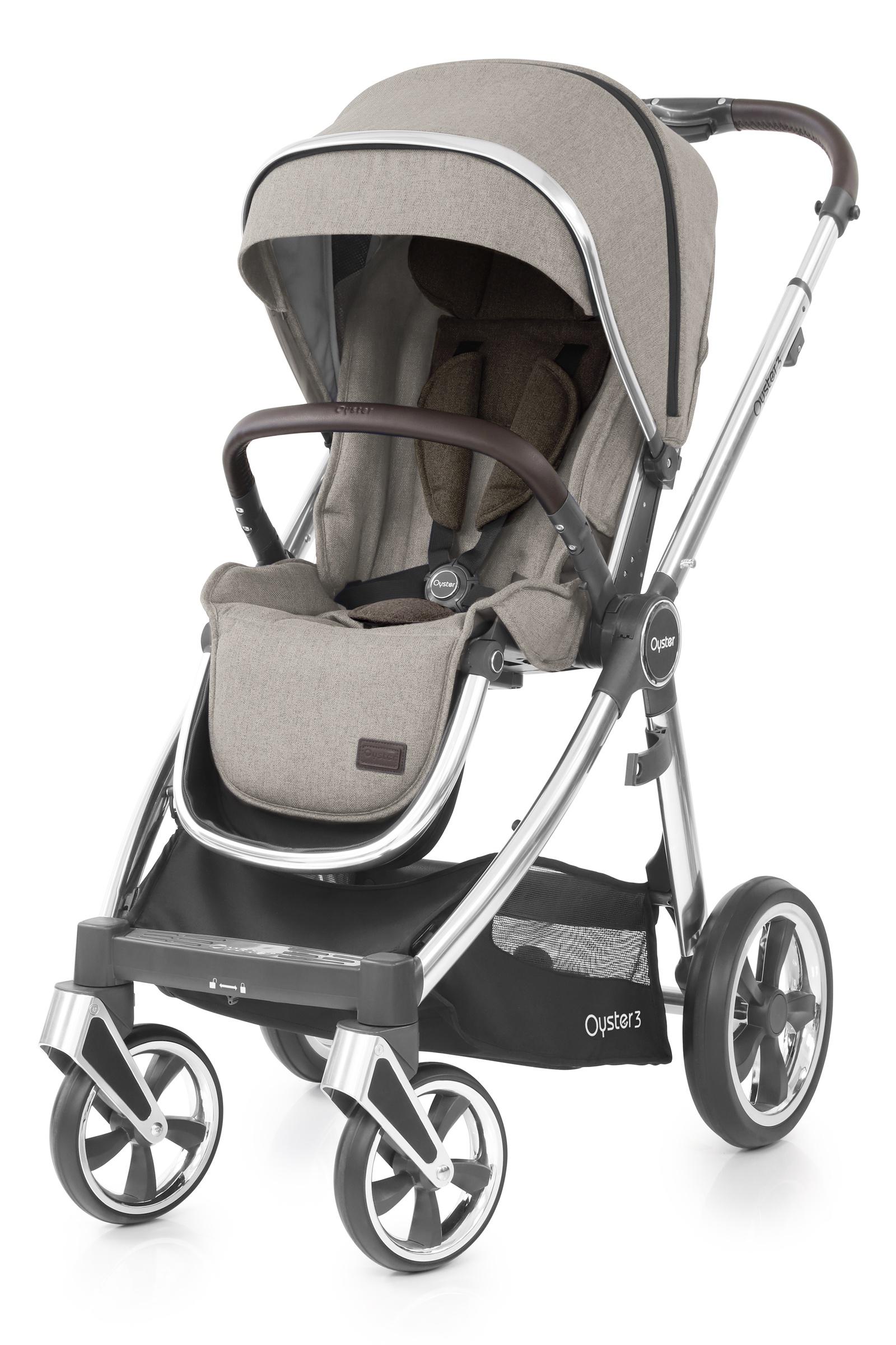 Детская прогулочная коляска Oyster 3 Pebble на серебристом шасси