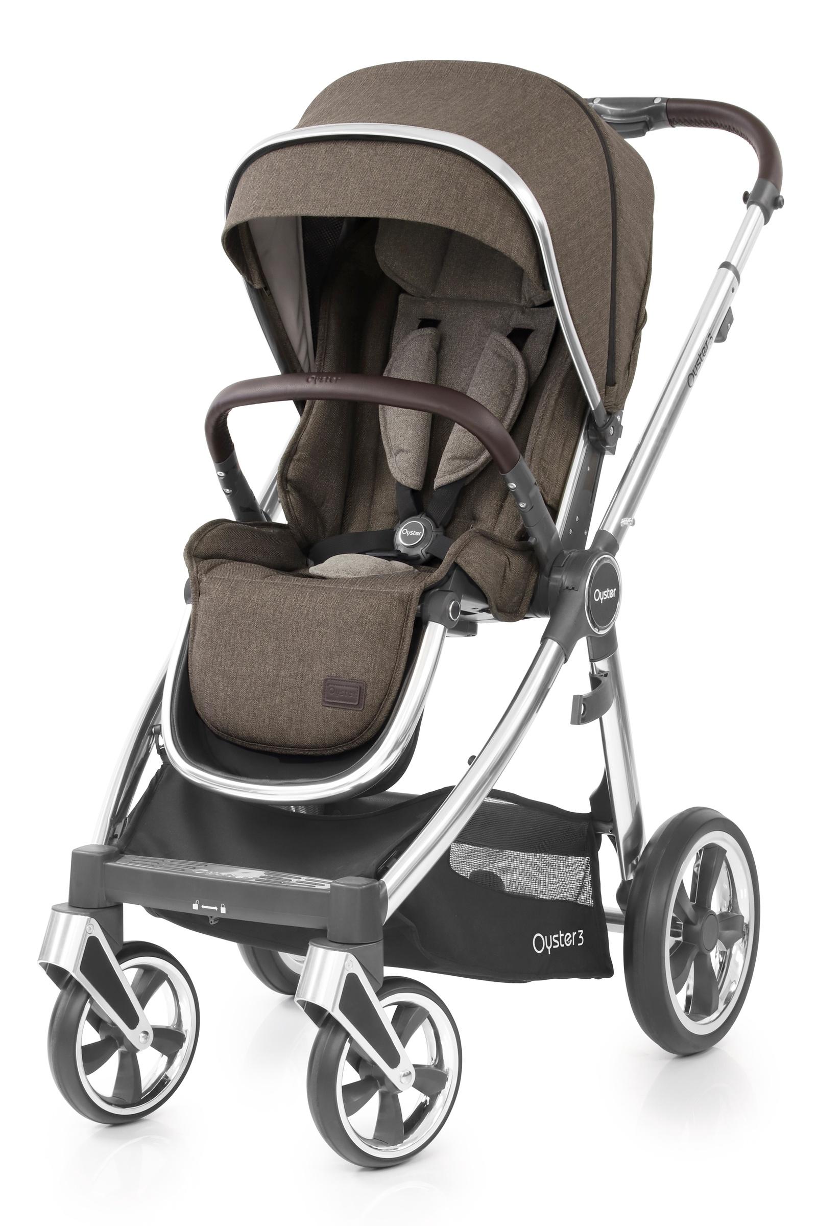 Детская прогулочная коляска Oyster 3 Truffle на серебристом шасси