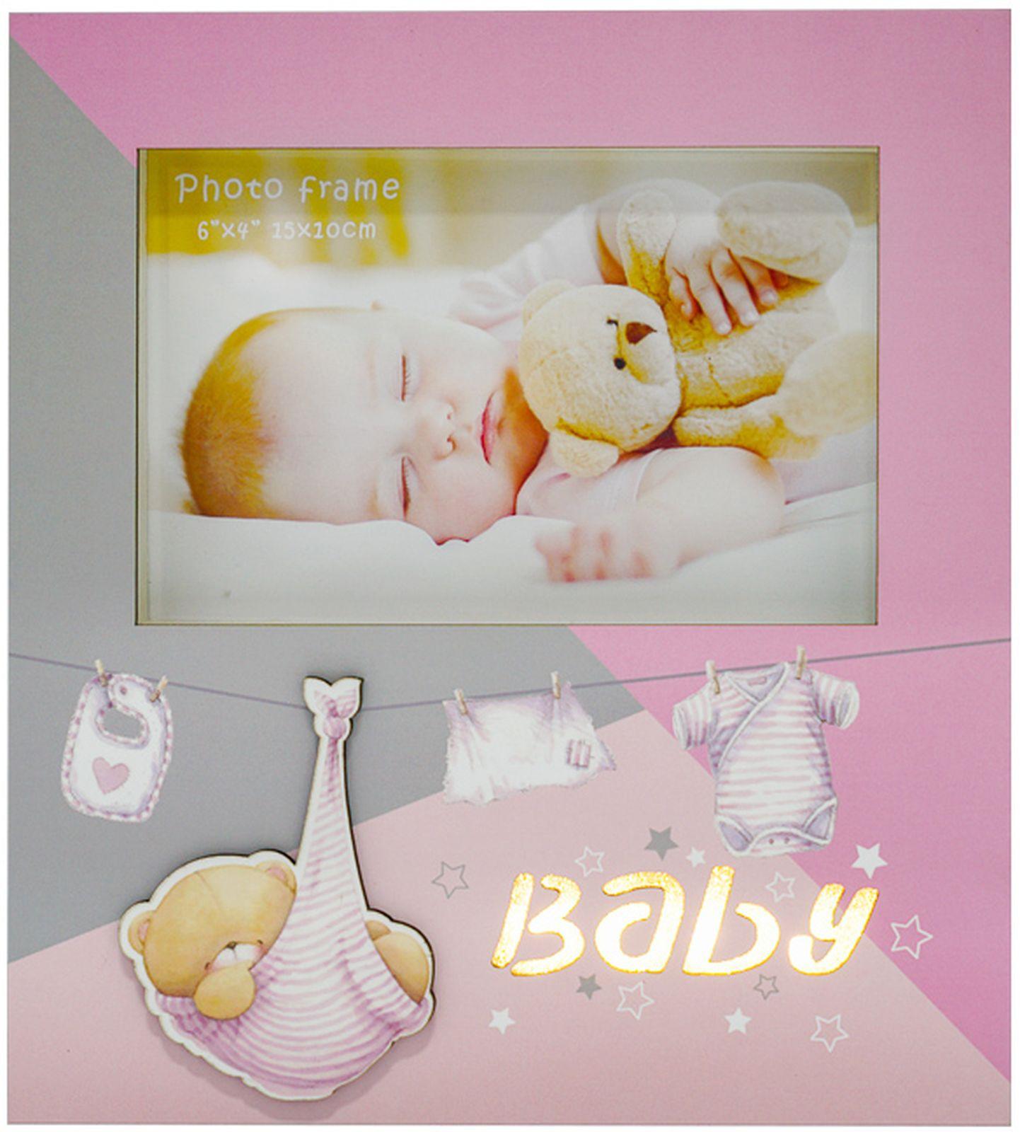 Фото - Фоторамка Fotografia Baby, FFL - 806, розовый, с подсветкой, для фото 10 х 15 см, 19 х 2,5 х 21 см dvotinst baby photography props wooden posing bed fotografia accessories infant toddler studio shooting photo props shower gift