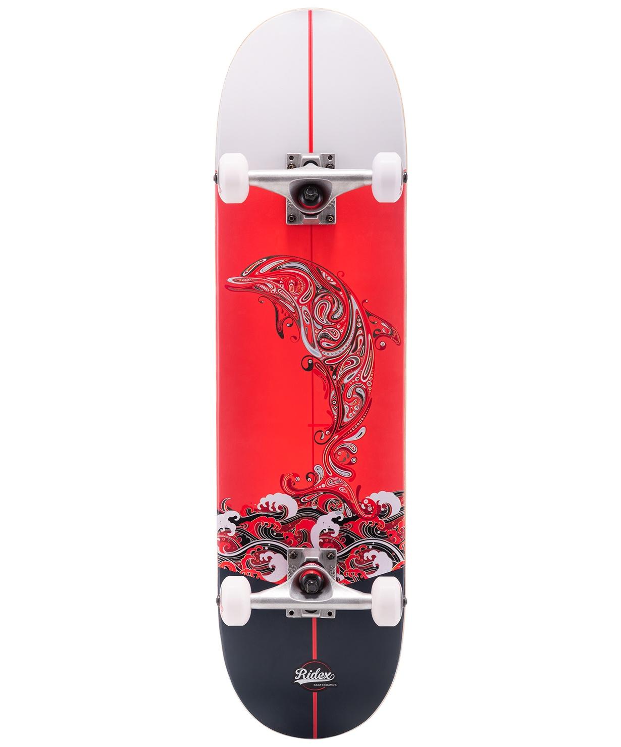 Скейтборд RIDEX 31.6X8, ABEC-5, Redsea цена