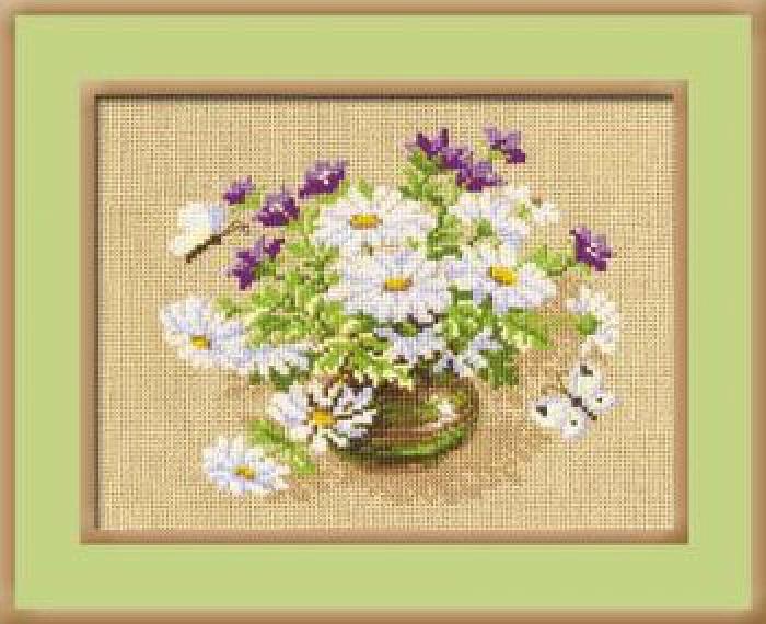 Набор для вышивания крестом Риолис Букет полевых цветов (30 х 24 см.) набор для вышивания крестом риолис лесная хозяйка 40 х 30 см