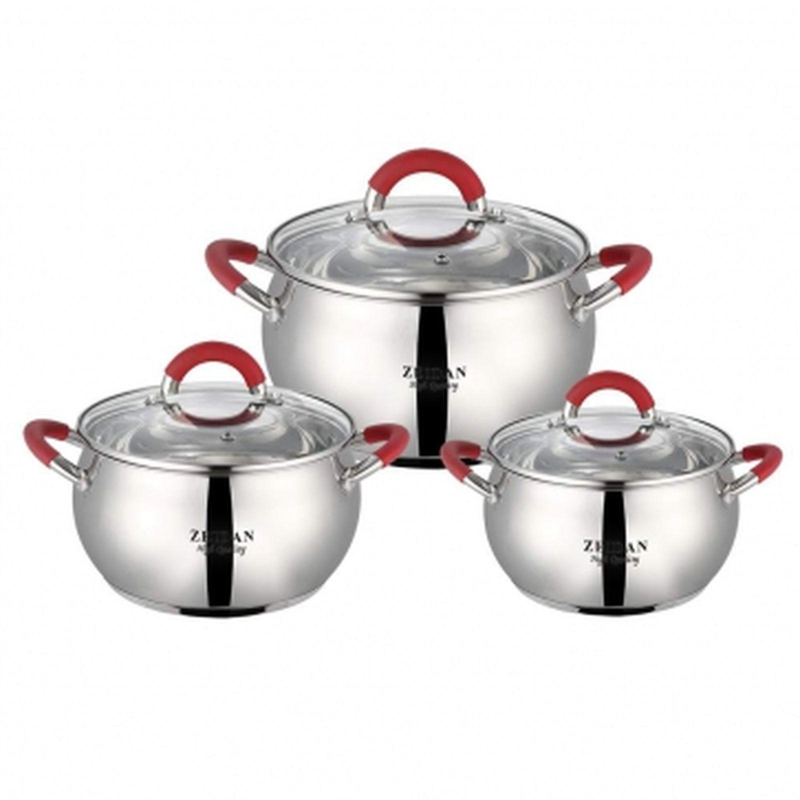 Набор посуды Zeidan, Z-50612, с крышками, 6 предметов