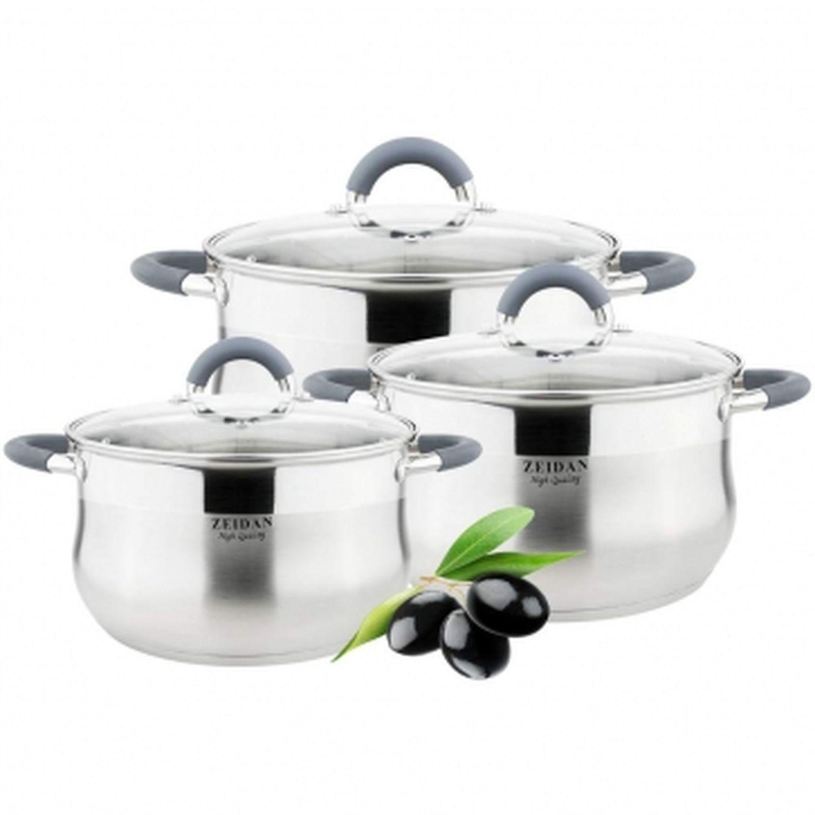 Набор посуды Zeidan, Z-50608, с крышками, 6 предметов