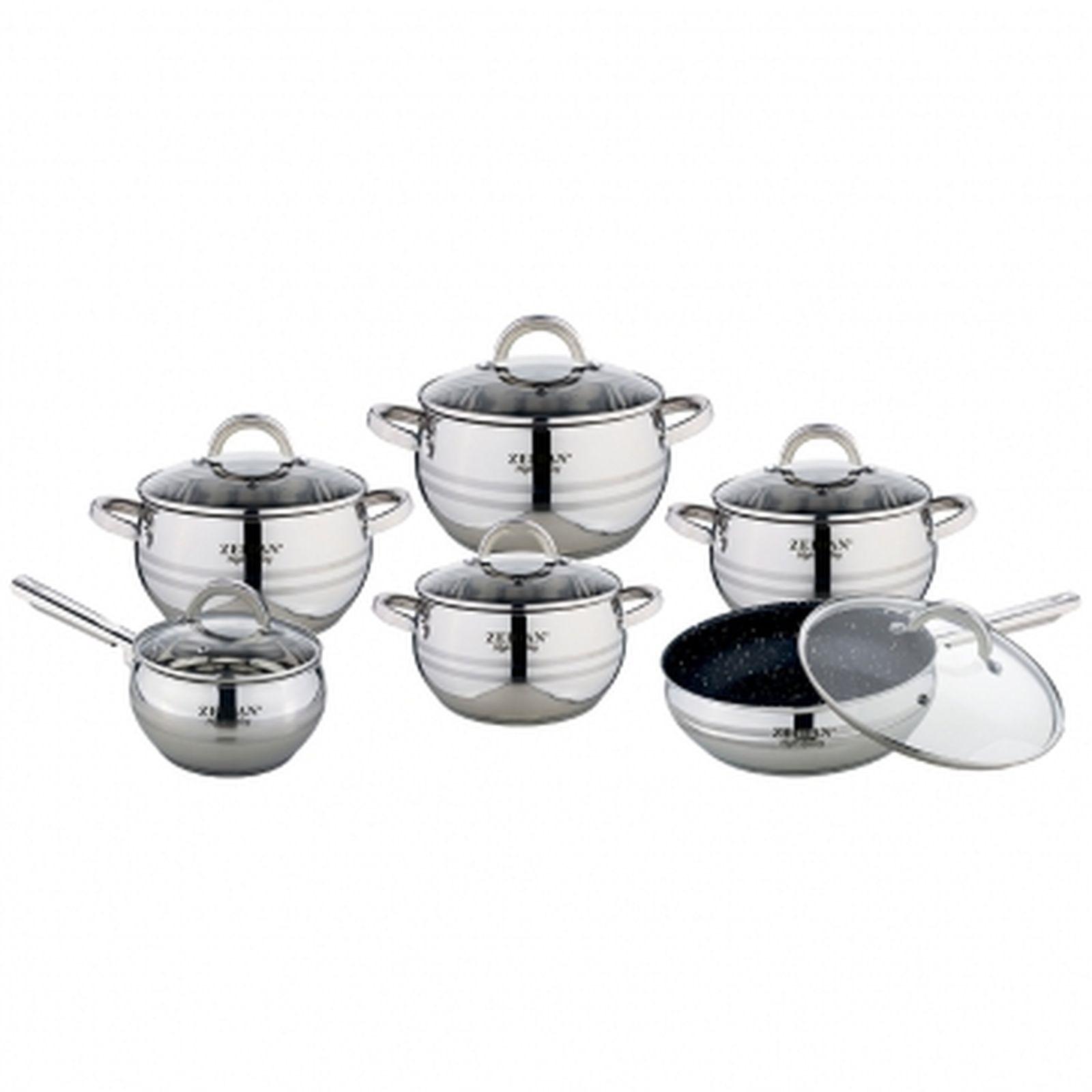 Набор посуды Zeidan, Z-51207, с крышками, 12 предметов