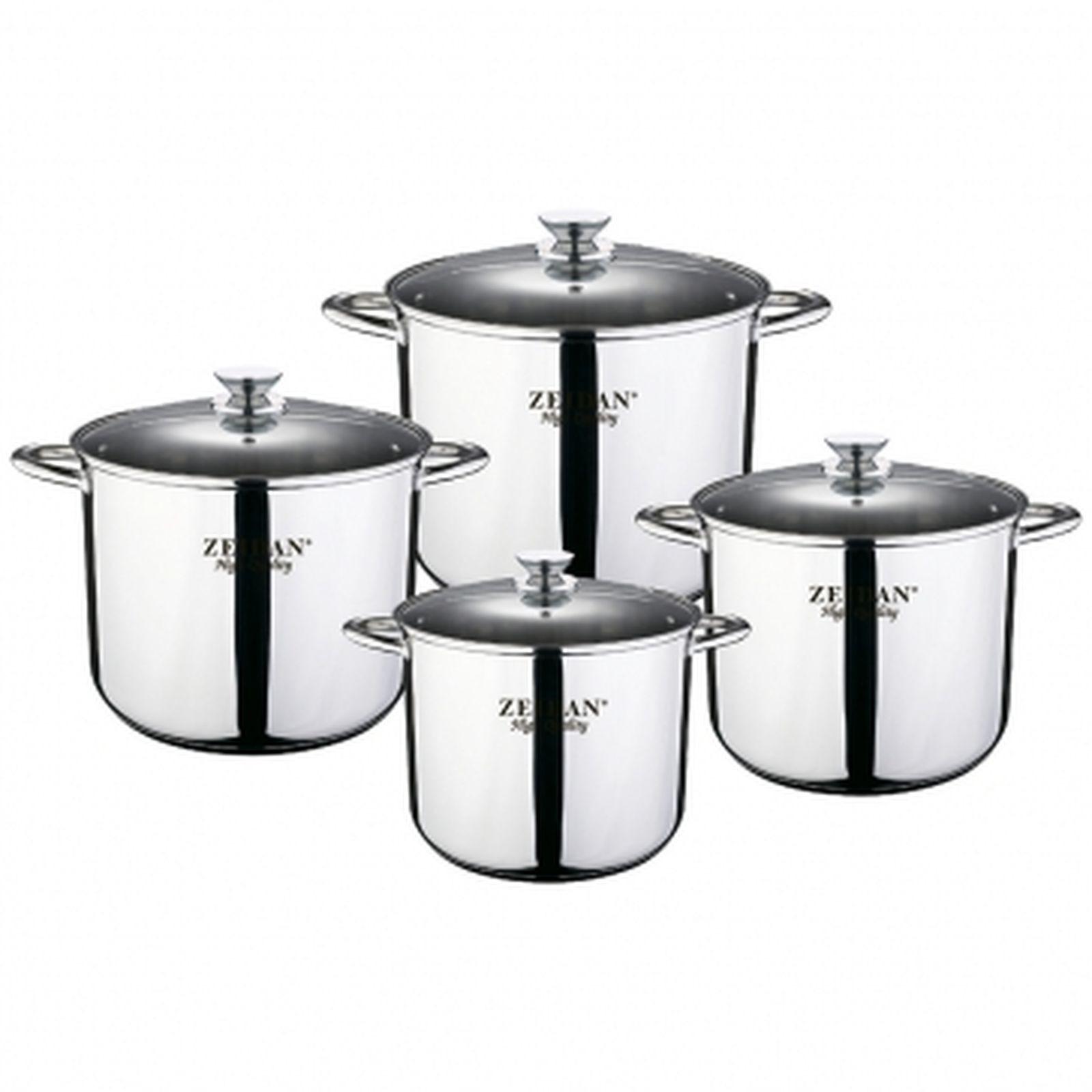 Набор посуды Zeidan, Z-50804, с крышками, 8 предметов