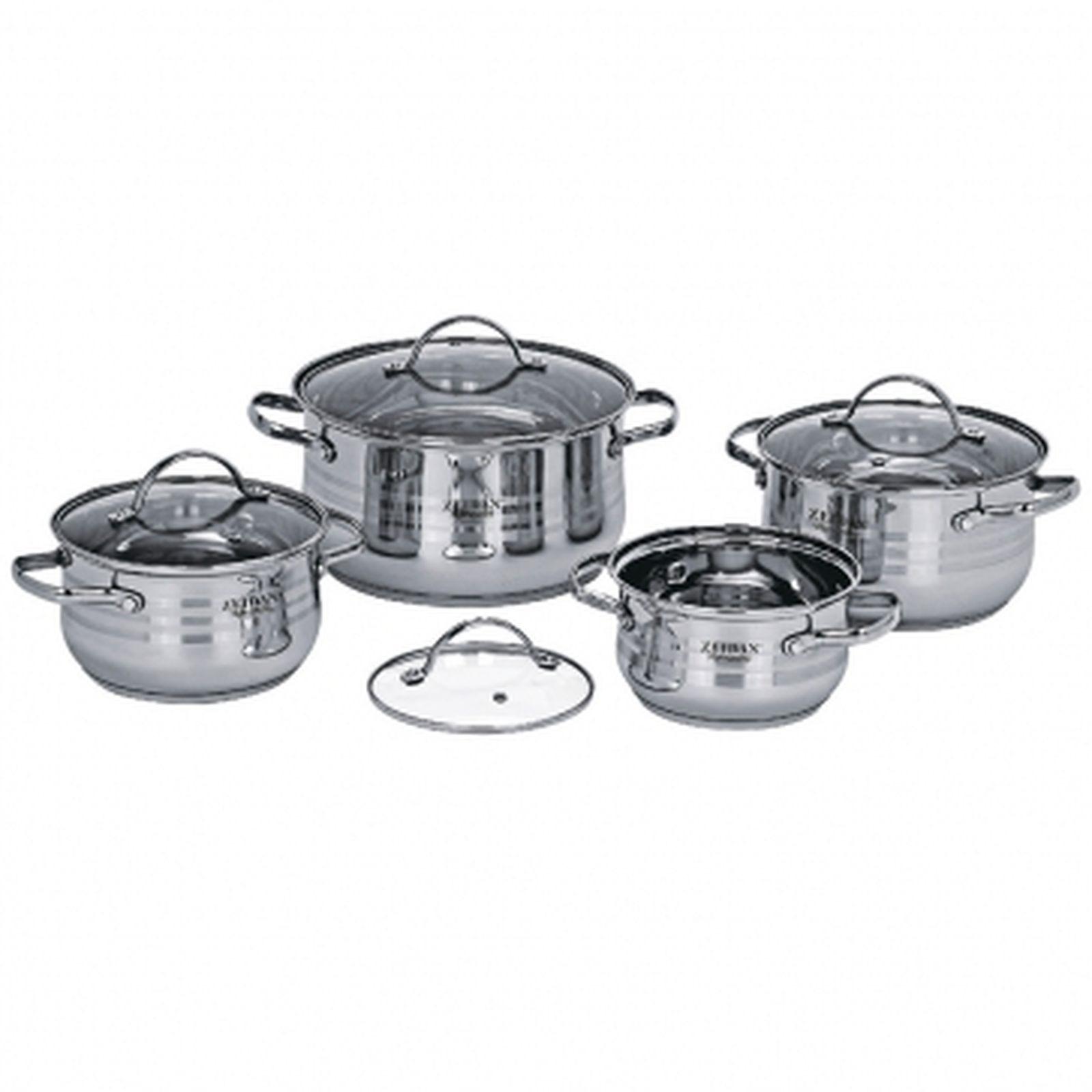Набор посуды Zeidan, Z-50807, с крышками, 8 предметов