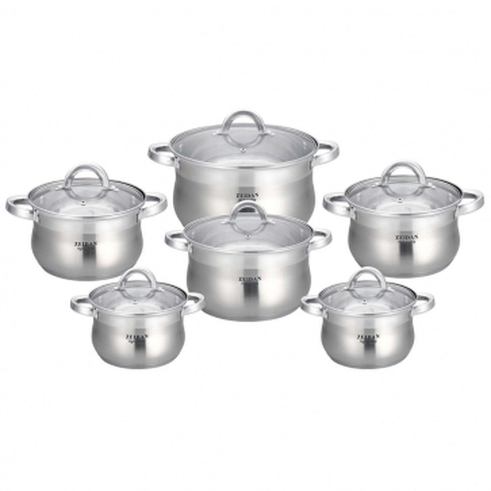 Набор посуды Zeidan, Z-51204, с крышками, 12 предметов