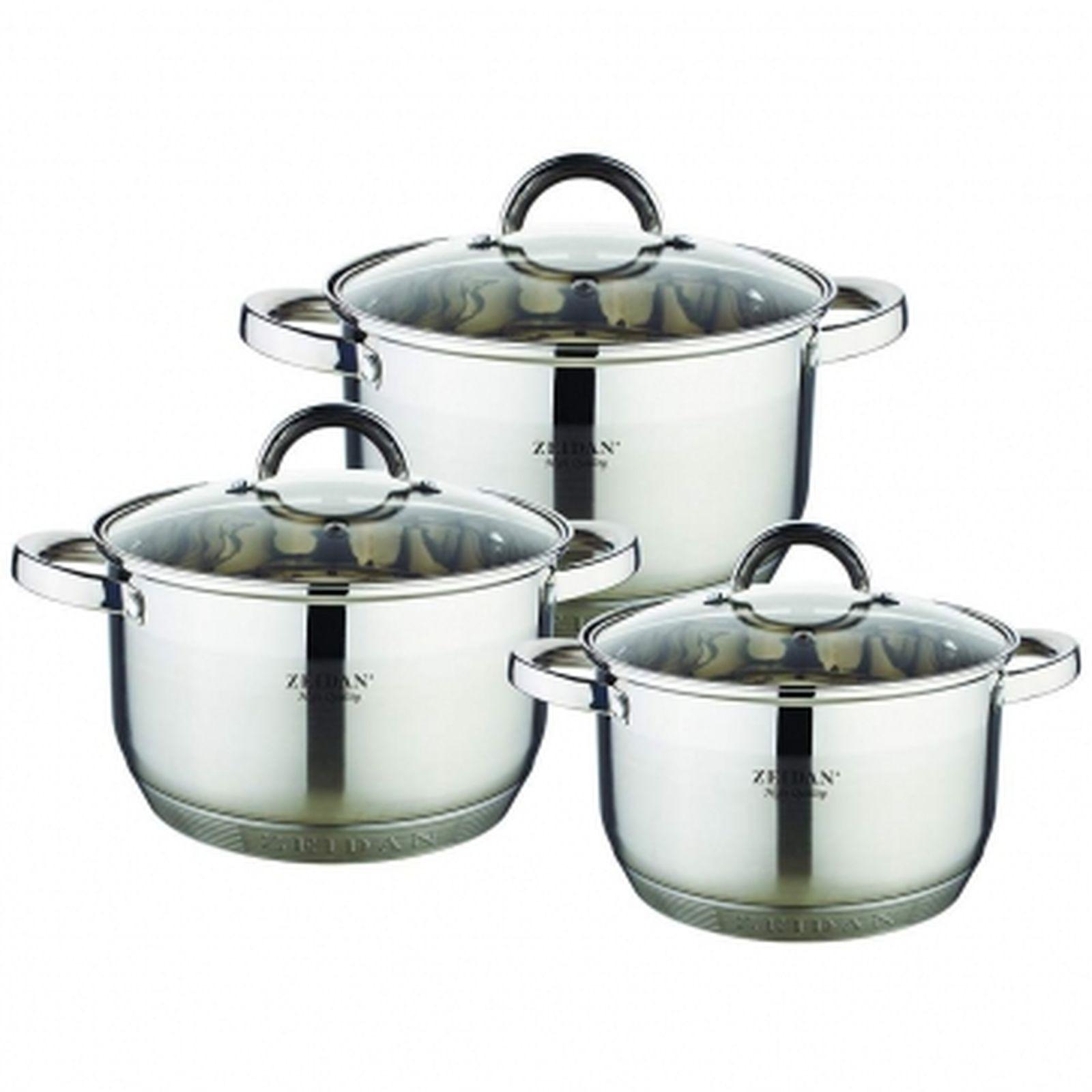 Набор посуды Zeidan, Z-50626, с крышками, 6 предметов
