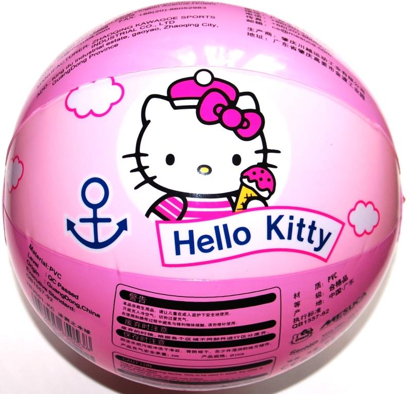 Мяч детский надувной пляжный Hello Kitty HE2501-KC, 17см детский поильник hello kitty ktxg01 hellokitty