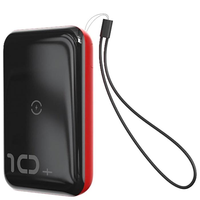 Фото - Внешний аккумулятор с беспроводной зарядкой Baseus Mini S Bracket 10W 10000mAh 18W Черный красный велосипед 3 х колесный vip lex 903 2а red красный viplex 903 2а red