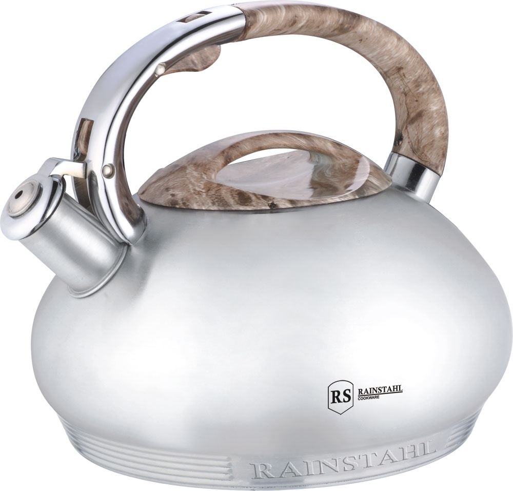 Чайник со свистком RAINSTAHL 3,0 л., 7637-30RS/WK/бежевый чайник rainstahl со свистком цвет белый 3 л 7540 30rs wk