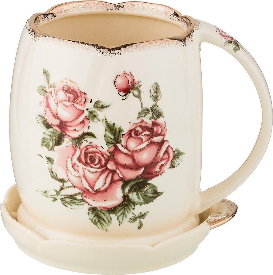 Подставка для столовых приборов Lefard Корейская роза, 797-047, 13,5 х 12,5 х 12,5 см подставка для столовых приборов kesperd с ручками цвет коричневый 38 х 32 х 4 см