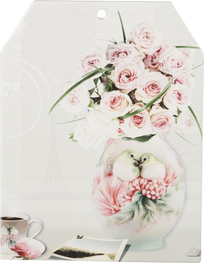Подставка под горячее Lefard Цветы в вазе, 229-169, 16,5 х 21 см цена