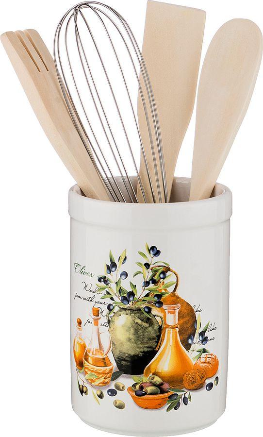 Подставка для кухоных принадлежностей Lefard Греческая оливка, 230-198, 14 х 9 х 9 см держатель для книг 14 х 9 х 22 см