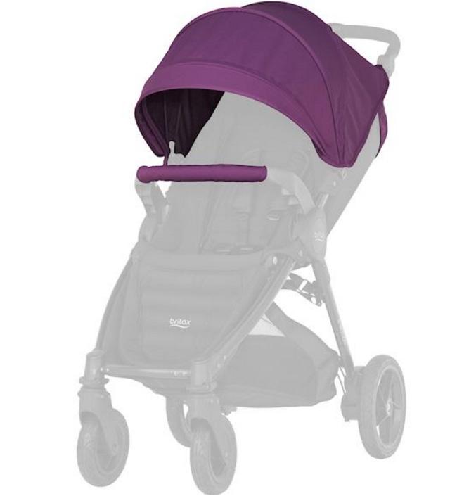 Капор для колясок B-Agile 4 Plus, B-Motion 4 Plus и B-Motion-3 Plus Mineral Lilac спальный блок для колясок britax roemer mineral purple