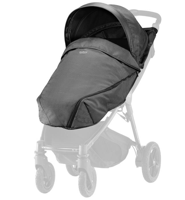 Капор и накидка для колясок B-Agile 4 Plus и B-Motion 4 Plus Black Denim спальный блок для колясок britax roemer mineral purple