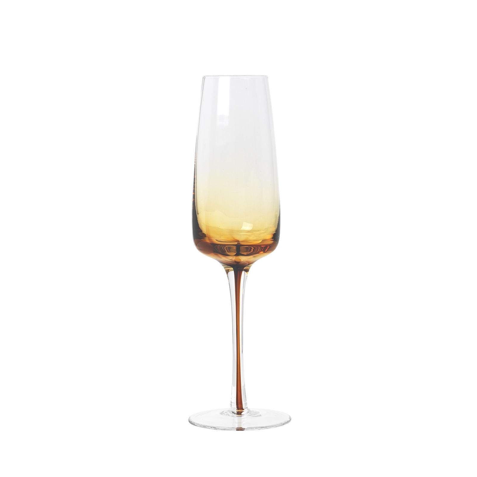 Набор из 4 бокалов для шампанского AMBER circelee цвет шампанского 4