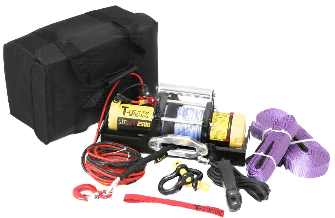 Лебедка электрическая переносная в сумке T-Max ATW PRO 2500 T-Max