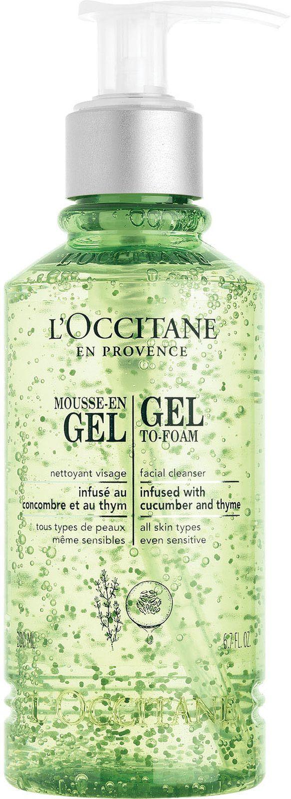 Очищающий гель-мусс для лица L'Occitane En Provence Infusions, с чабрецом и огурцом, 200 мл L'Occitane En Provence
