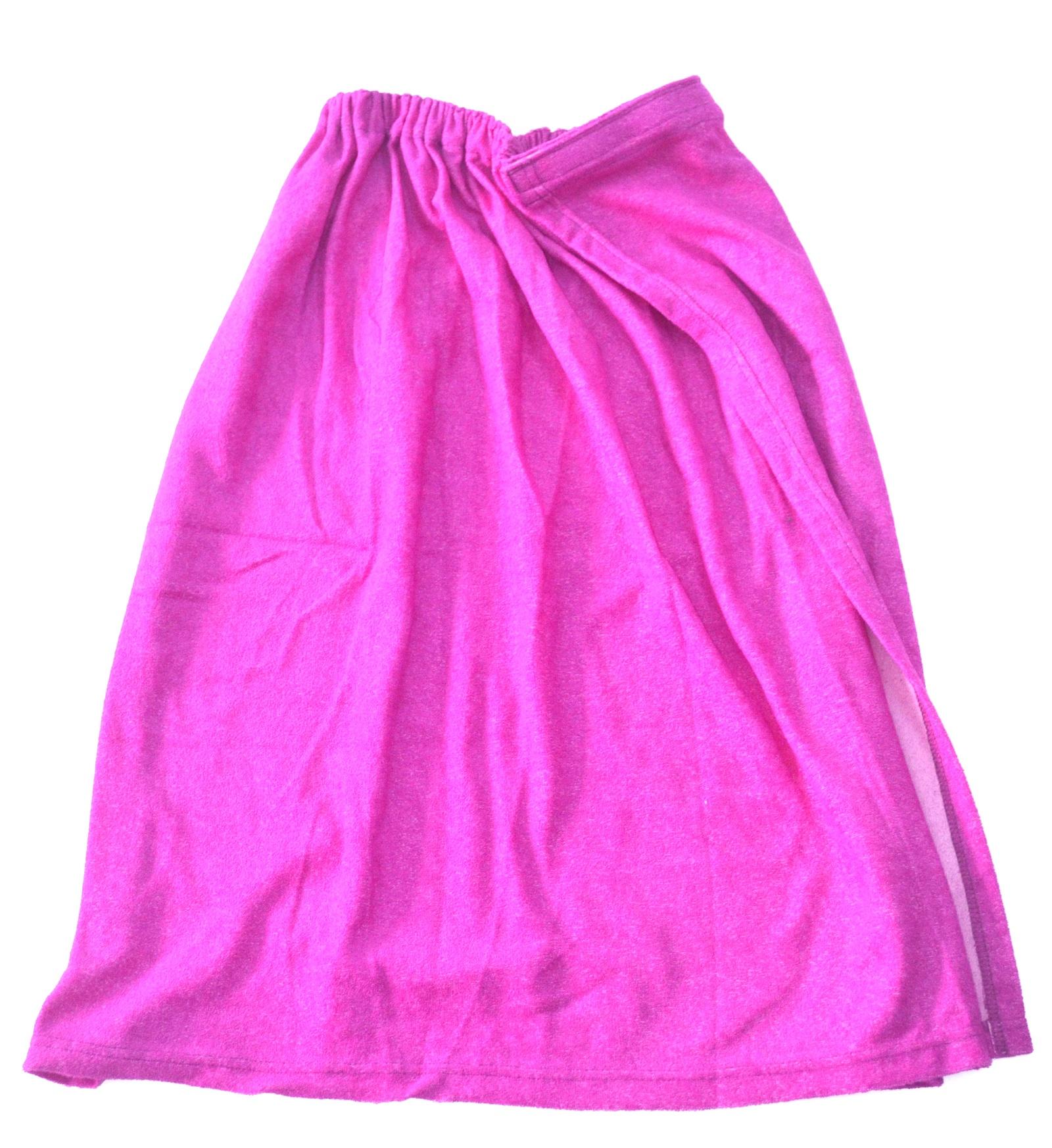 Килт махровый фиолетовый килт для бани tapani тапани