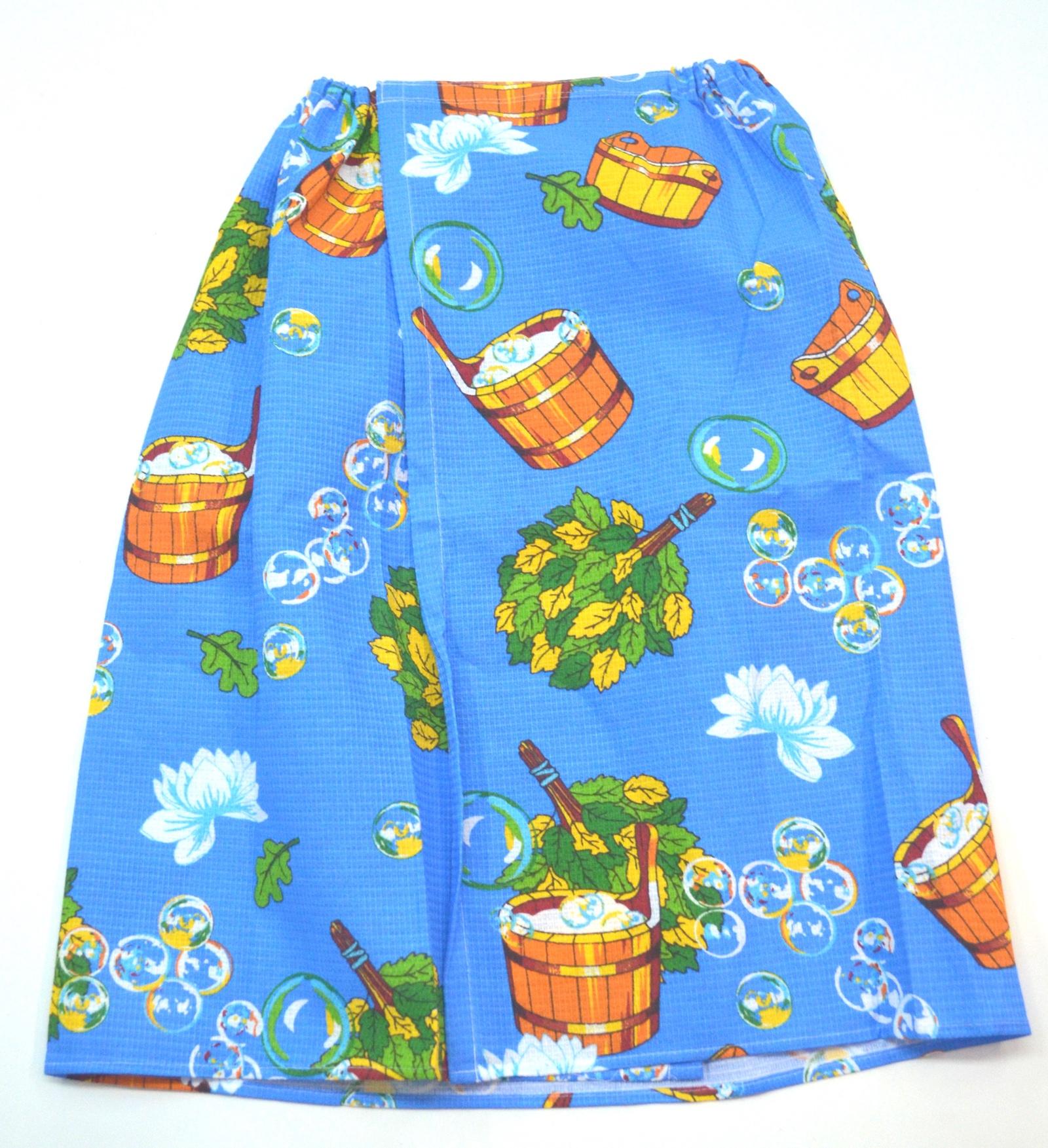 Килт для бани мужской вафельная ткань Баня синяя килт для бани tapani тапани