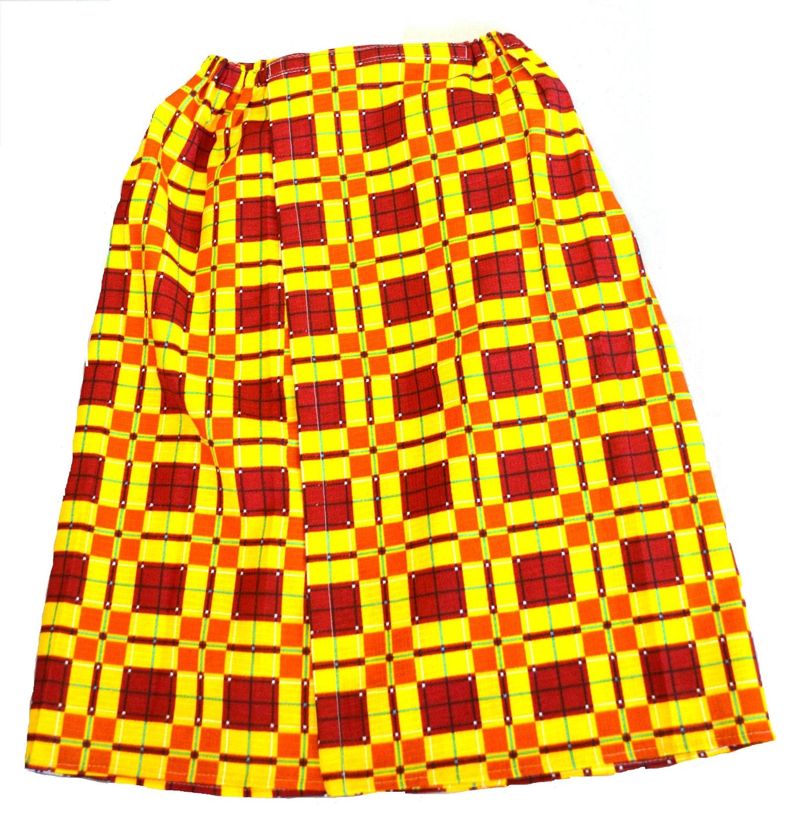 Килт для бани мужской вафельна ткань клетка коричневая килт для бани tapani тапани