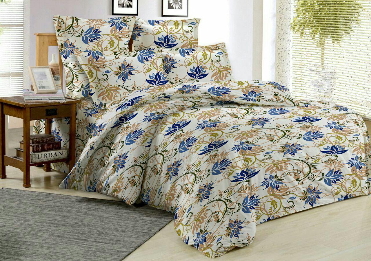 Комплект постельного белья 2,0-спальный с простыней евро ОН и ОНА, поплин, P6-OS-016