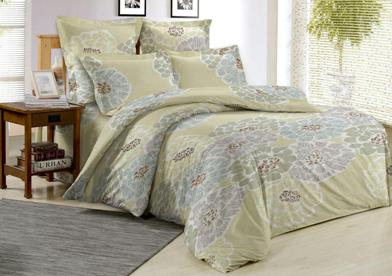 Комплект постельного белья 2,0-спальный с простыней евро ОН и ОНА, поплин, P6-OS-033