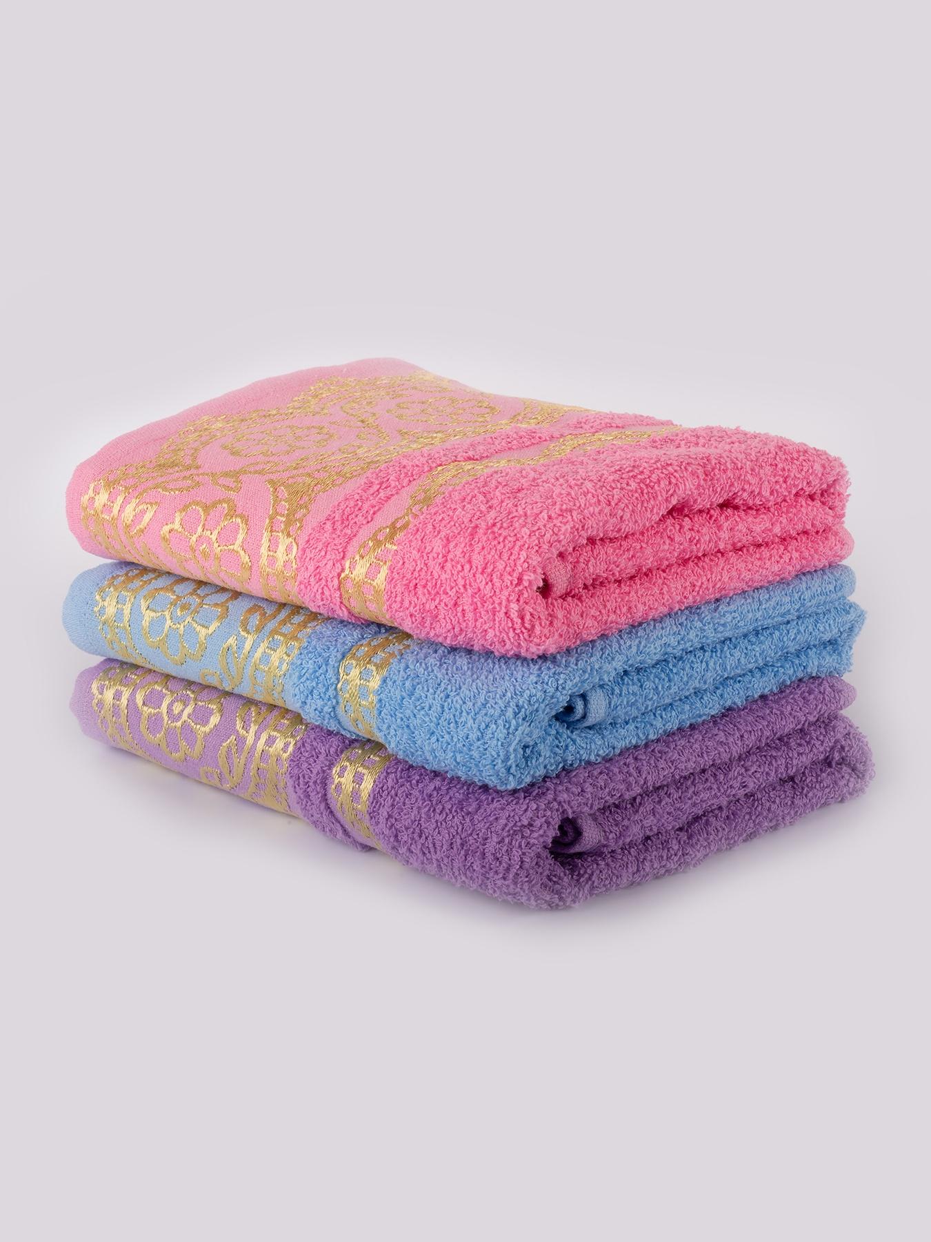 Комплект полотенец MOY HAVLU& BORNOZ (50х80 - 3шт.) Комплект махровых полотенец для рук...